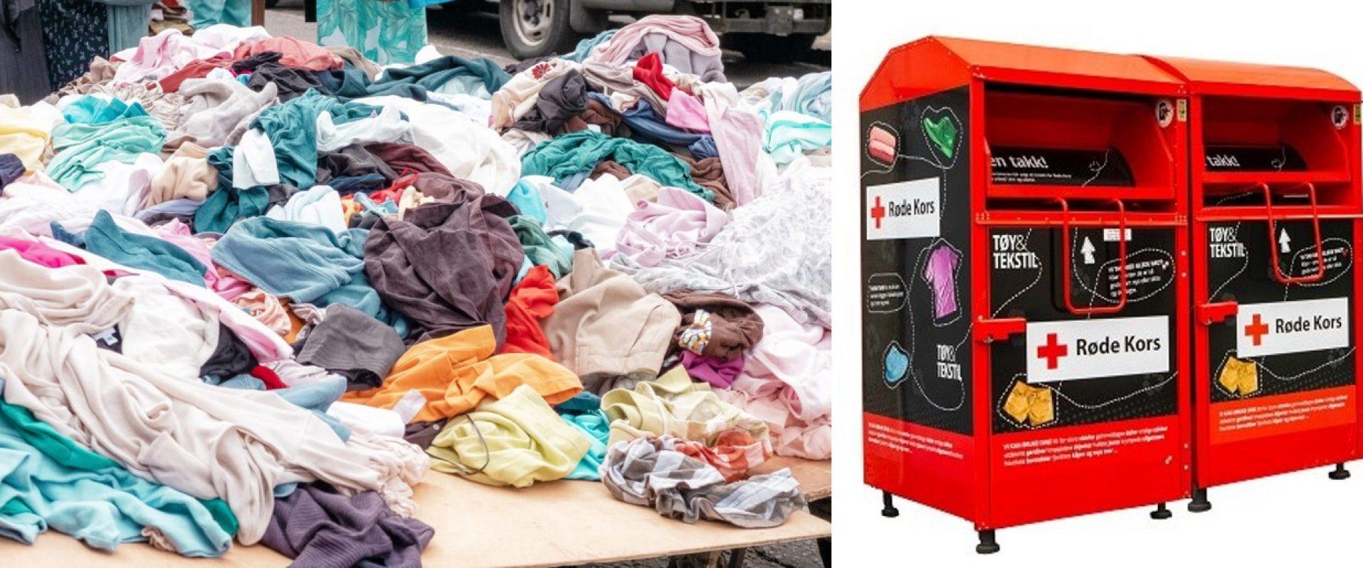 Containere for klær til gjenbruk