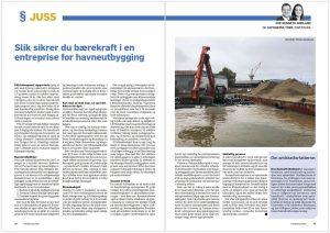 Bærekraftig entreprise for havneutbygging